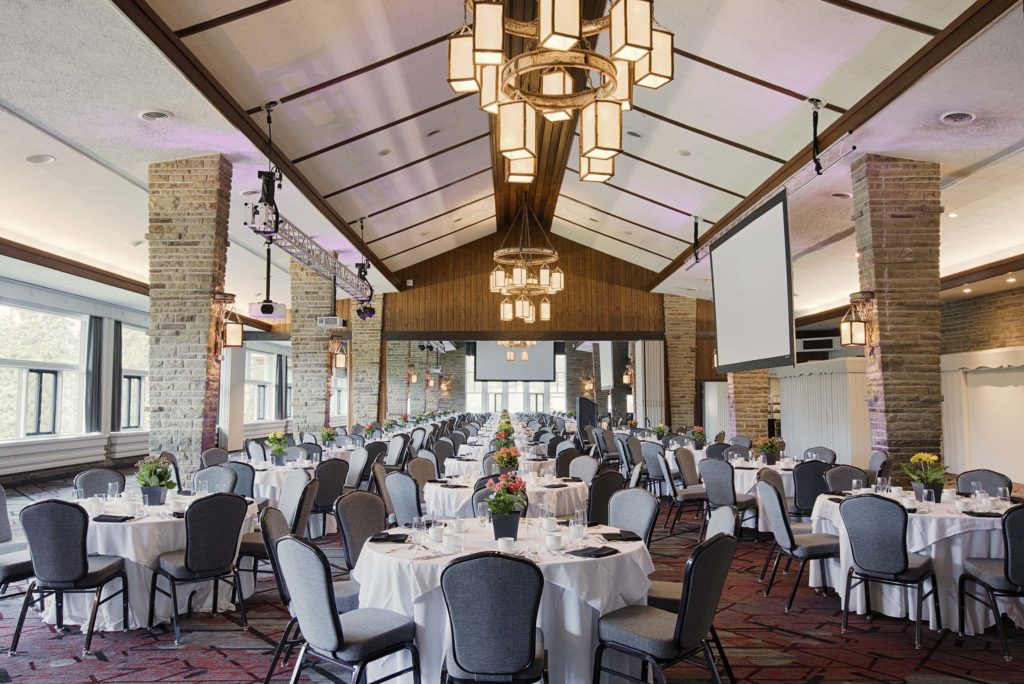 Beauvert Ballroom features large vaulted ceilings