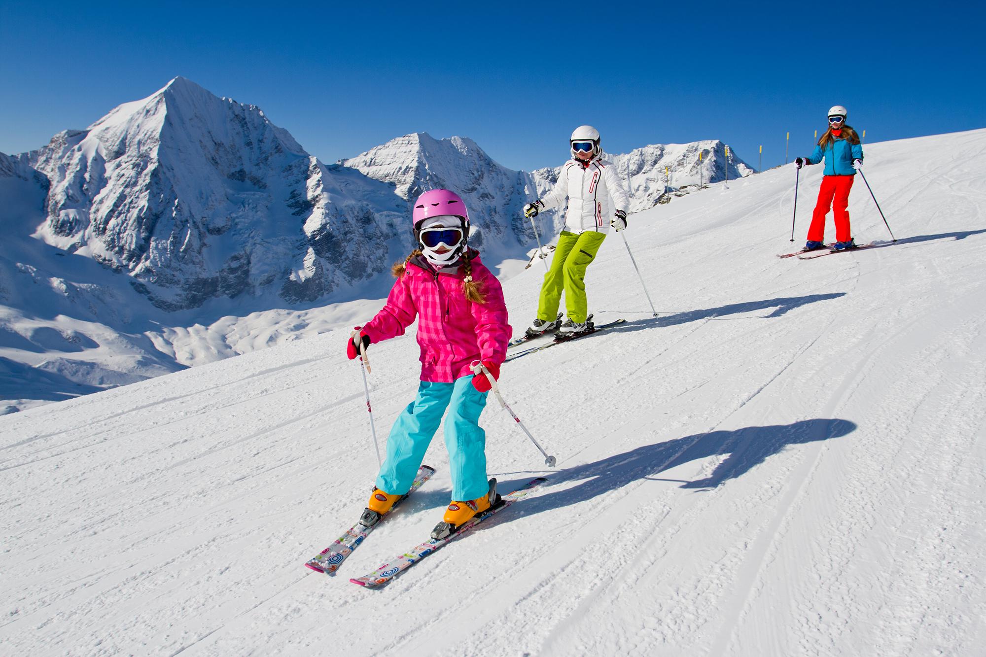 Family Skiing in the Mountains