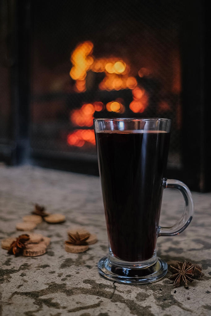 Mulled Wine in the Emerald Lounge