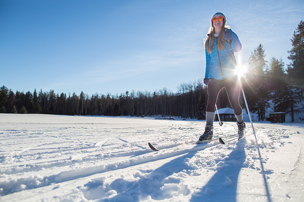 Cross Country Skiing in Winter