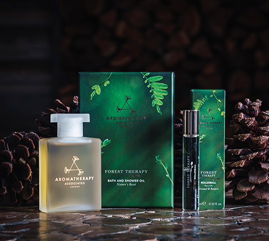 Jasper spa package - Aromatherapy brand Forest Therapy kit with bath oil and rollerball